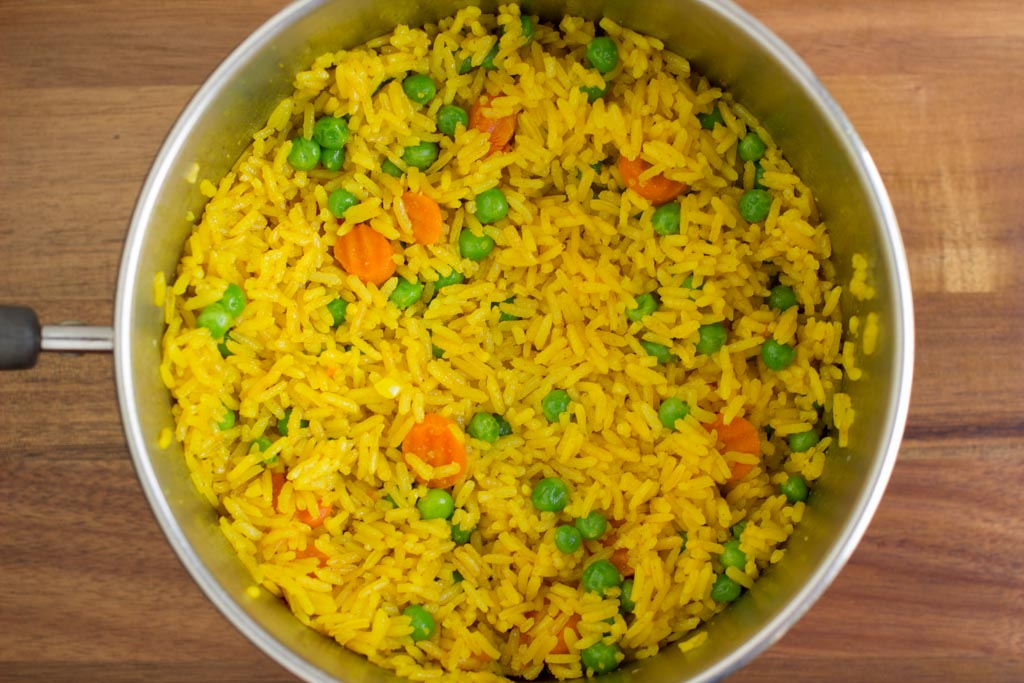 Pollo Tropical Yellow Rice with vegetables